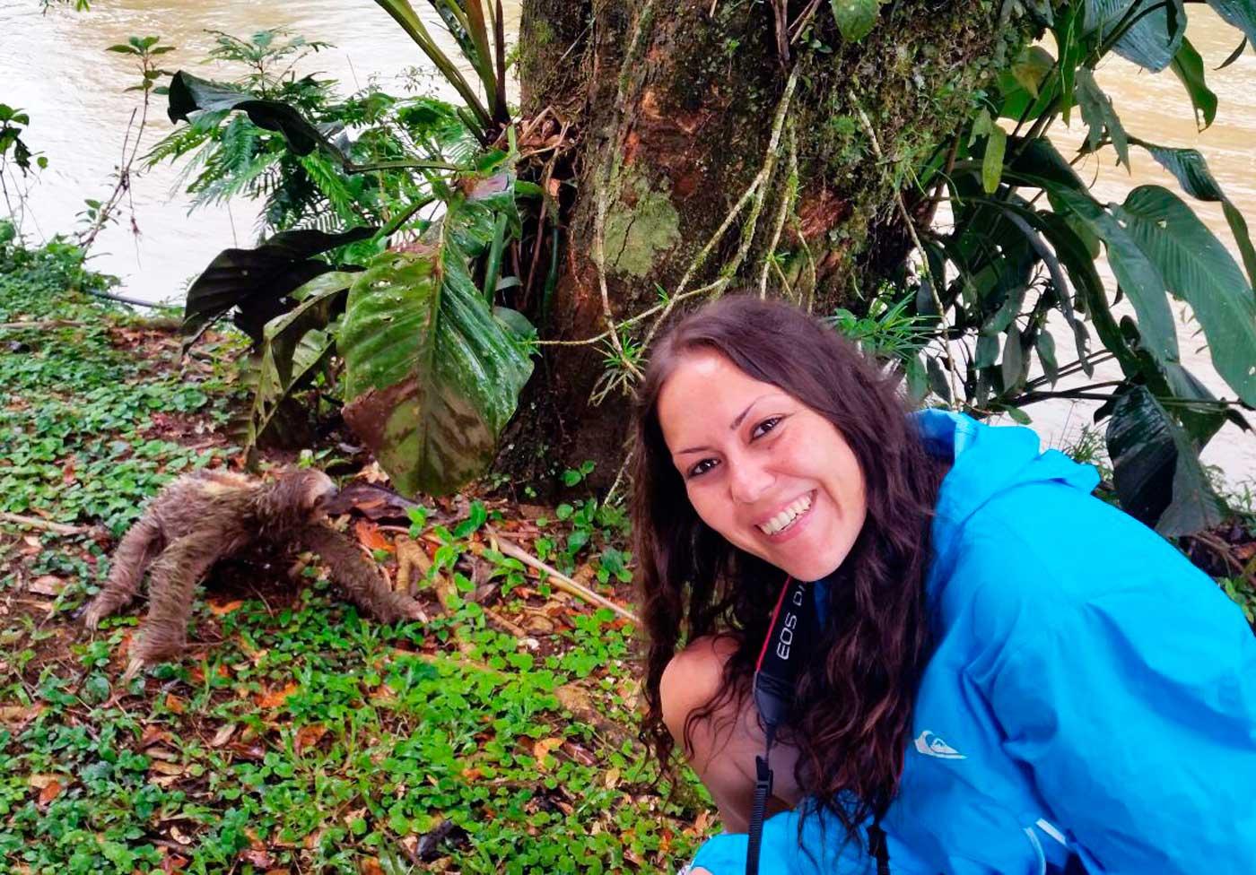 Perezosos en Costa Rica