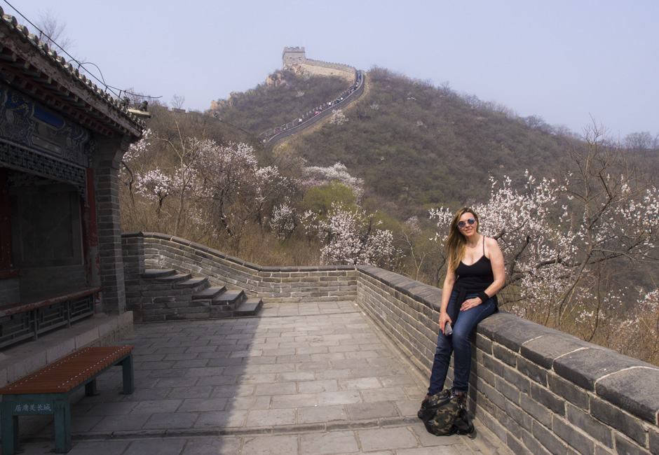 Sara Enríquez en la Gran Muralla China